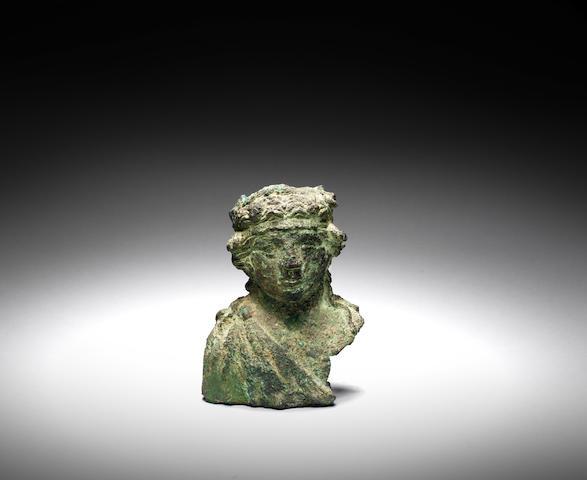 A Roman bronze balsamarium