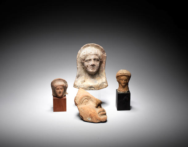 Four Etruscan terracotta heads 4