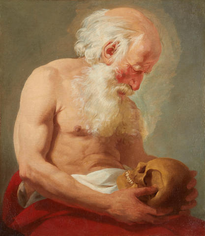 French School, 18th Century Saint Jerome Penitent  unframed