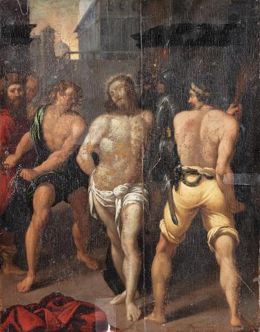 Florentine School, 17th Century The Flagellation unframed
