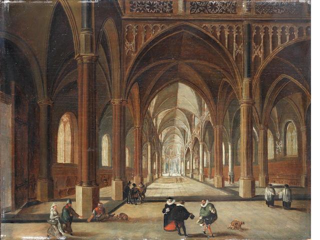 Circle of Nicolaes de Giselaer (Dordrecht 1583-circa 1654) A church interior with elegant figures