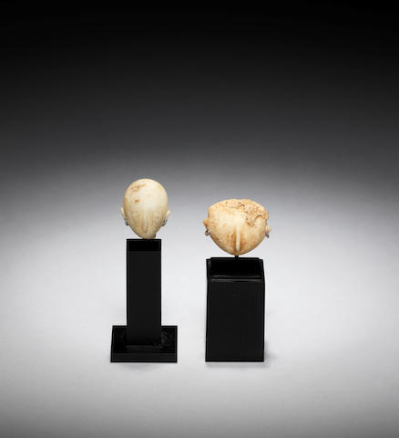 Two Anatolian marble heads  2