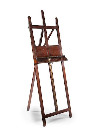 A 19th century mahogany artist's easel