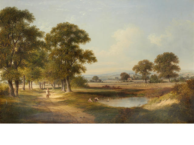 Walter Williams (British, 1835-1906) A country idyll