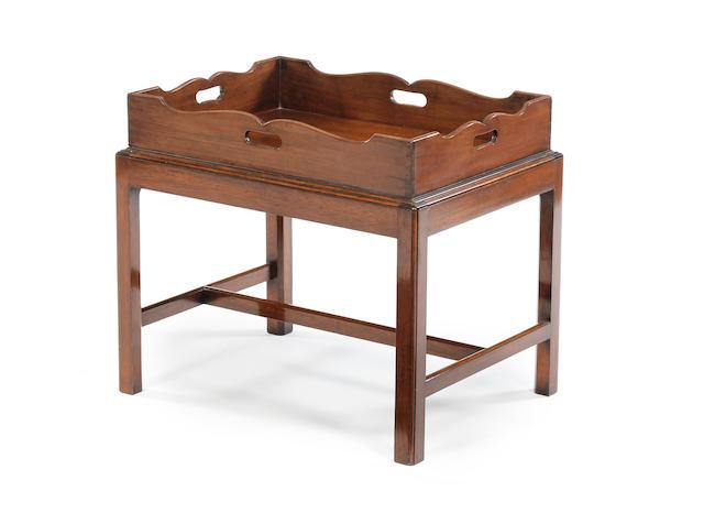 A George III mahogany butler's tray