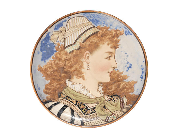 Rebecca Coleman for Minton A Kensington Gore Charger, 1872