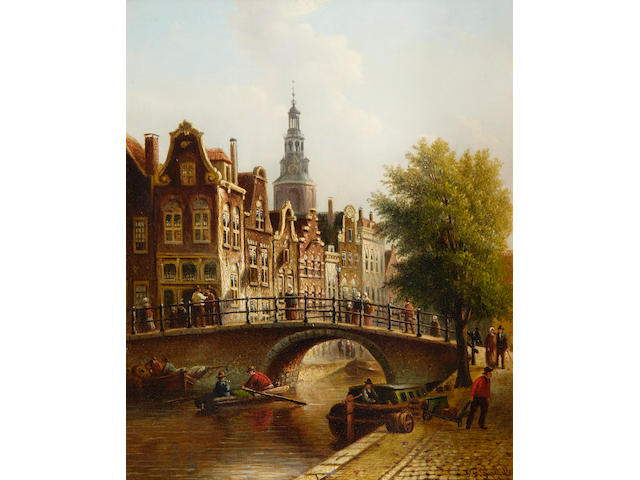 Johannes Franciscus Spohler (Dutch, 1853-1894) View of Amsterdam