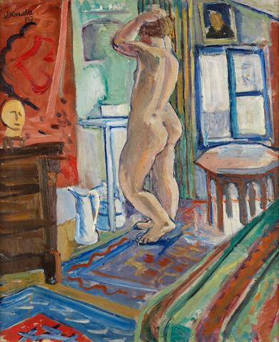 Vince Korda (Hungarian, 1897-1979) Standing nude
