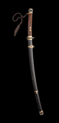 A katana in kai gunto mounts The blade late 16th/early 17th century