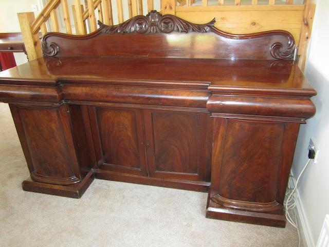 A William IV mahogany four door base sideboard