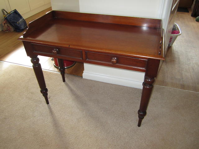 A mid Victorian mahogany side table