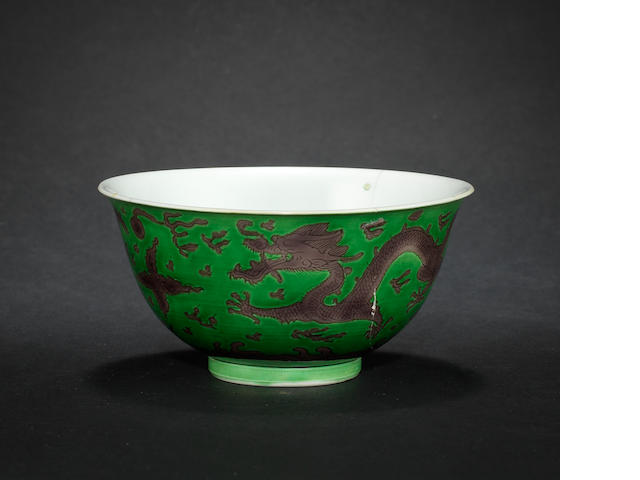 A green and aubergine bowl (ODS)