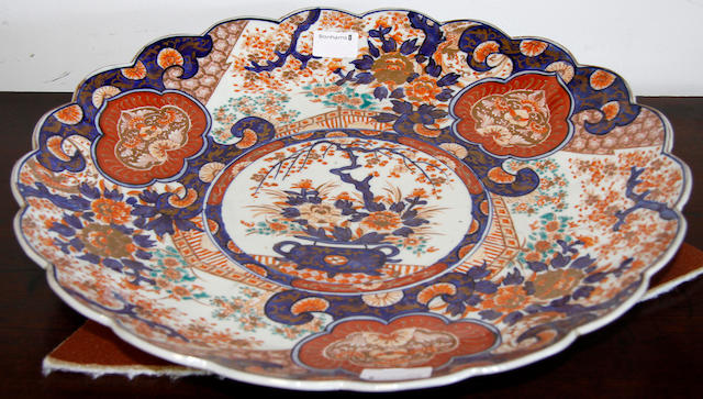 A large 19th Century Japanese Imari scalloped dish,