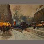 Eugène Galien-Laloue (French, 1854-1941) Paris street scene