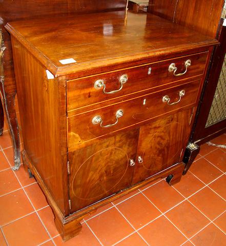A mahogany commode 19th Century