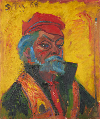 Sven Berlin (British, 1911-1999) Self portrait unframed