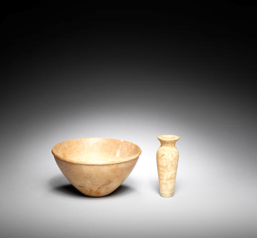 Two Ancient Near Eastern alabaster vessels 2