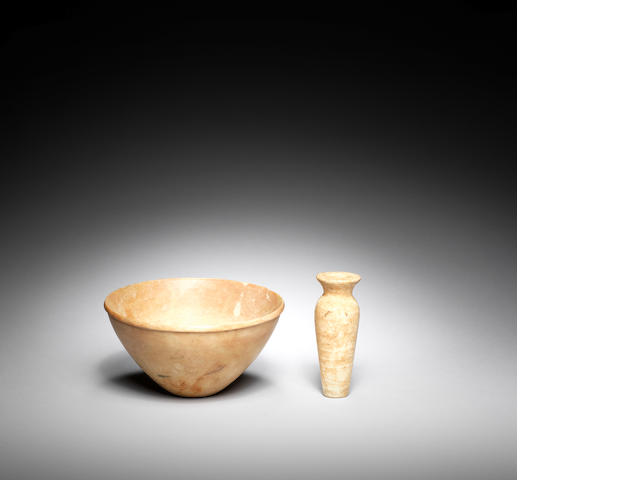 Two Ancient Near Eastern alabaster vessels