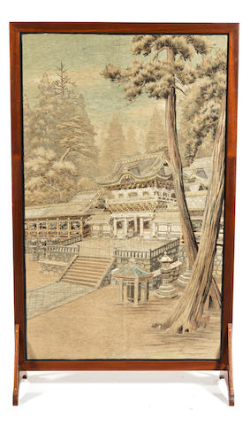 An embroidered large panel Meiji Period