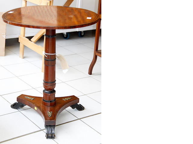 A 19th Century Empire style mahogany occasional table,