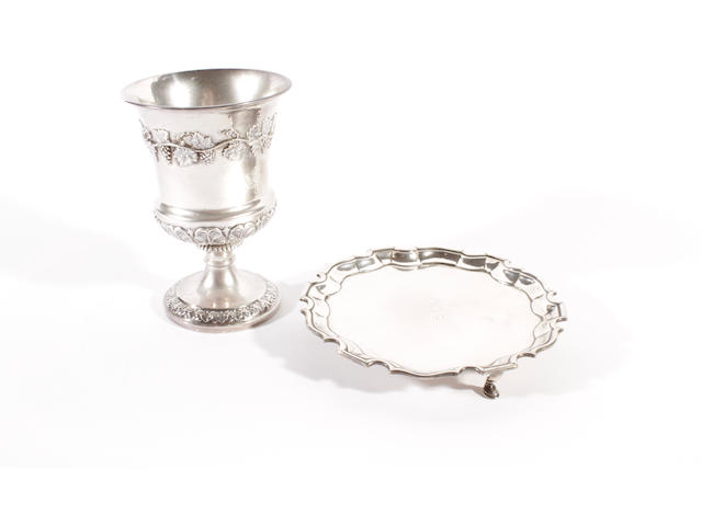 A George III silver goblet by Craddock and Reid, London 1821  (2)