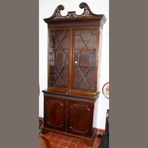 A late 19th century mahogany bookcase