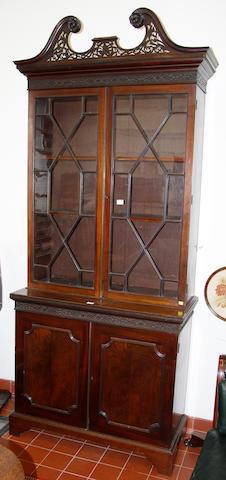 A late 19th century mahogany bookcase