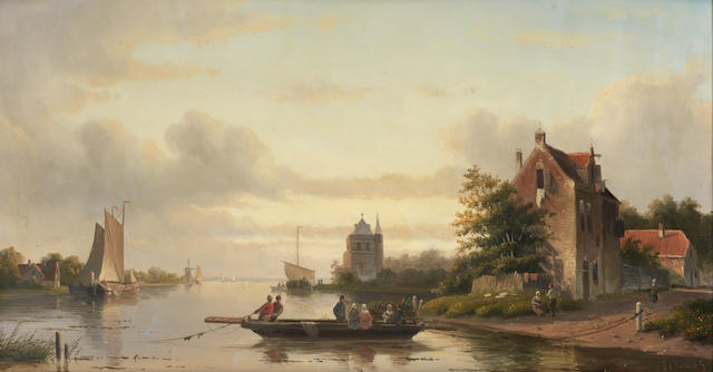 Jan Jacob Spohler (Dutch, 1811-1866) The ferry