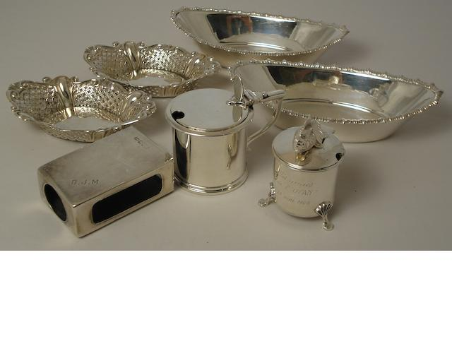 A collection of silver items  various makers and dates  (7)