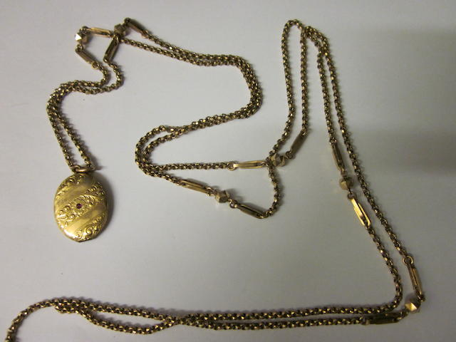 A Victorian muff chain,