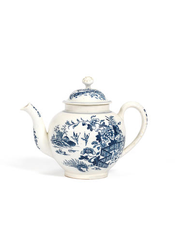 An interesting teapot attributed to Isleworth, circa 1770-80