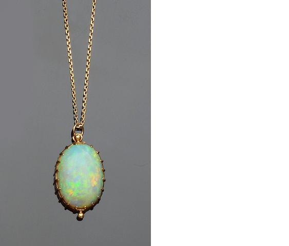 An opal pendant