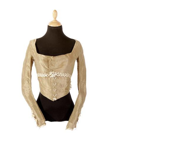 A circa 1780s silk bodice