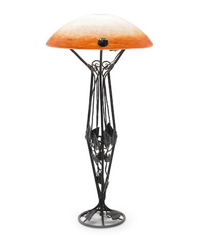 Schneider An Art Deco Lamp, circa 1930