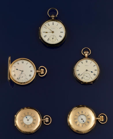 A collection of pocket watches (5)