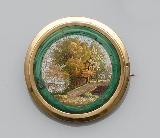 A micro-mosaic brooch