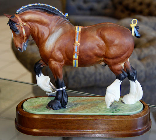A Royal Worcester Shire Stallion,