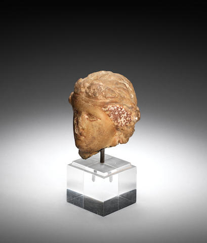 A Hellenistic marble head of Dionysus