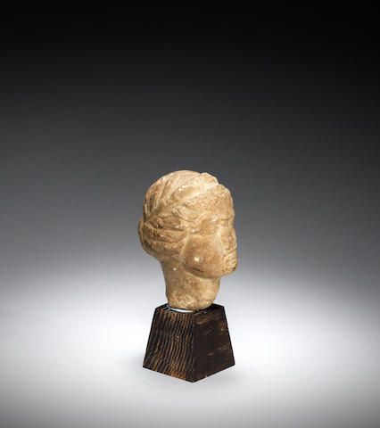 A Hellenistic marble head of a goddess