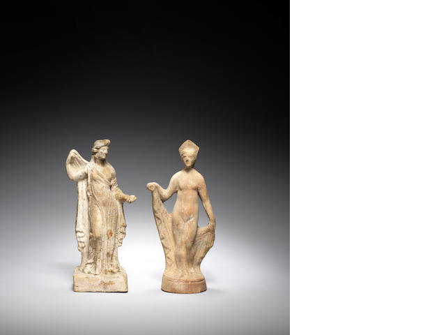 Two Greek terracotta female figures 2