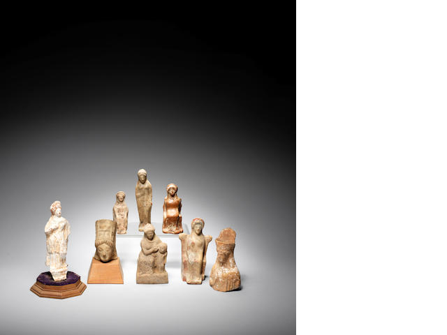 A group of Eight Greek terracotta figures and busts 8