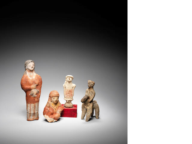 Four Cypriot terracotta figures 4