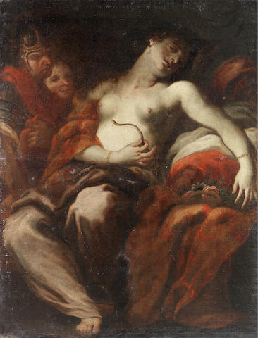Circle of Johann Carl Loth (Munich 1632-1698 Venice) The Death of Cleopatra unframed