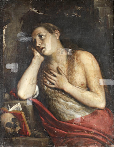 Milanese School, early 17th Century The Penitent Magdalen unframed