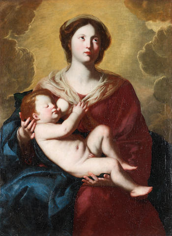 Circle of Massimo Stanzione (Orta di Atella 1585-1656 Naples) The Madonna del Latte unframed
