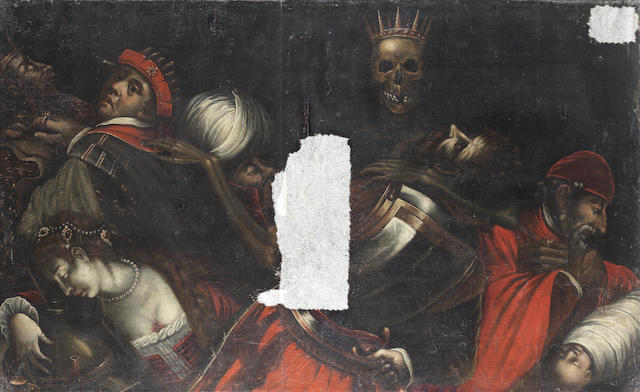 North Italian School, circa 1600 The Triumph of Death unframed