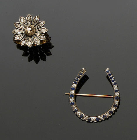 A small collection of diamond set jewellery (3)