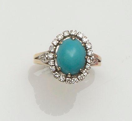 Two gem set cluster rings (2)