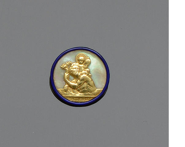 Cartier: A St Christopher pendant