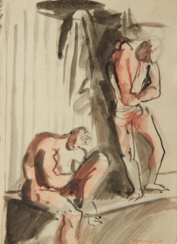 Keith Vaughan (British, 1912-1977) 'Changing room, Bulford Camp'